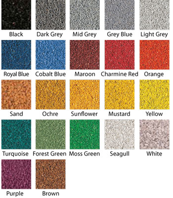 Coloured Stone Binder Colours